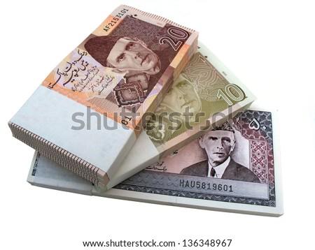 Pakistani currency - stock photo