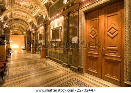palace corridor - stock photo