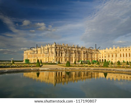 Palace de Versailles, France, UNESCO World Heritage Site - stock photo