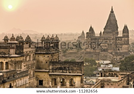 Palace In Orchha, India 2008. - stock photo