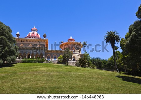Palace in Sintra Portugal - stock photo