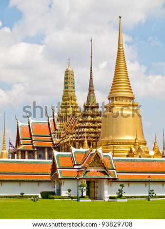 Palace in Thailand - stock photo