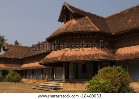 palace in trivandrum (kerala, india) - stock photo