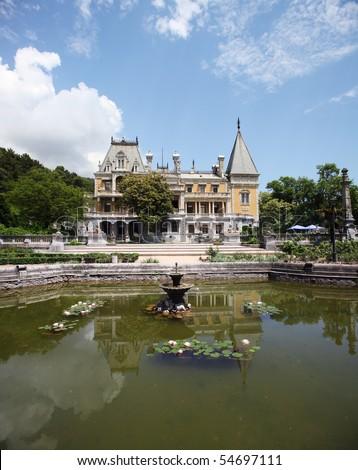 Palace of Alexander III in Massandra - stock photo