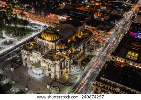 Palace of fine arts, Mexico City - stock photo