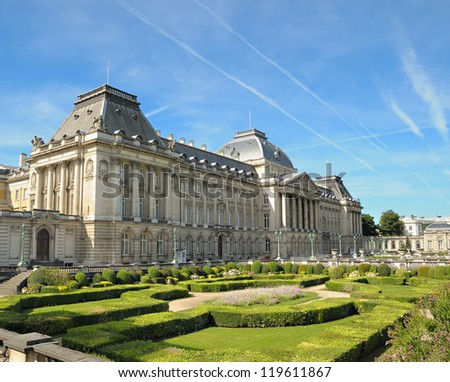 Palace of the king in historical center of Brussels, Belgium - stock photo