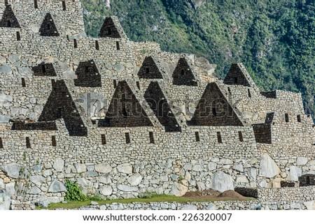 Palace of the princess Machu Picchu, Incas ruins in the peruvian Andes at Cuzco Peru - stock photo