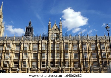 palace of Westminster, London, England - stock photo