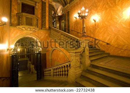 palace staircase - stock photo