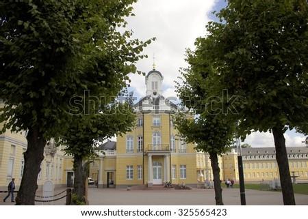 palace trees - stock photo