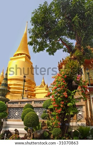 palace wat in thailand - stock photo