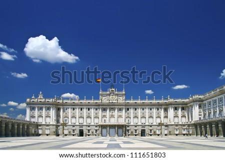 Palacio Real - Spanish Royal palace in Madrid. - stock photo