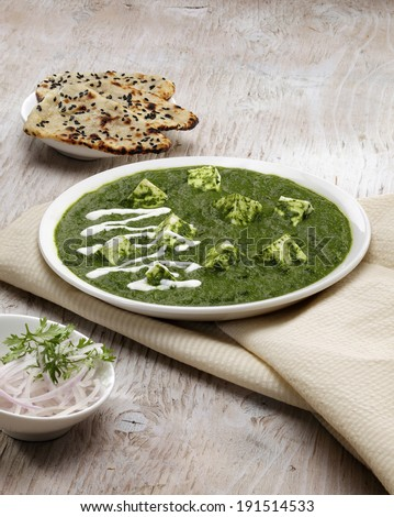 Palak Paneer Indian Food - stock photo