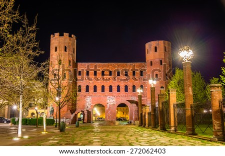 Palatine Towers in Turin - Italy - stock photo