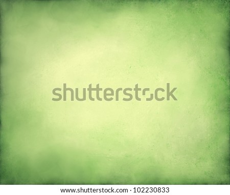 pale abstract green background with yellow center and soft pastel vintage grunge background texture design on border, light green paper page, old abstract background Christmas design - stock photo