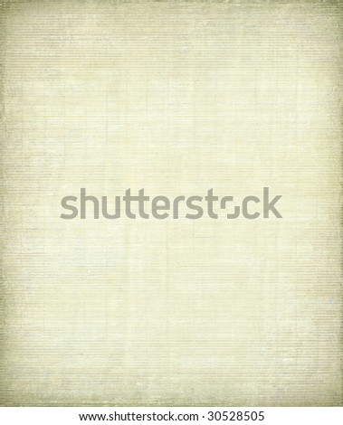 pale painted bamboo canvas with dark frame - stock photo