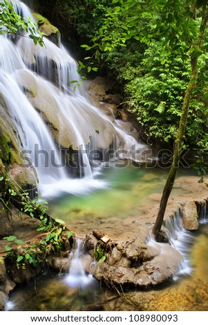 Palenque Waterfall - stock photo