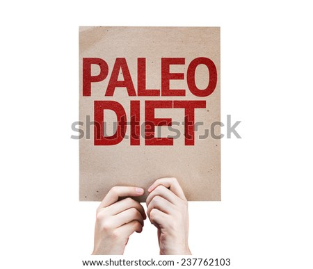 Paleo Diet card isolated on white background - stock photo