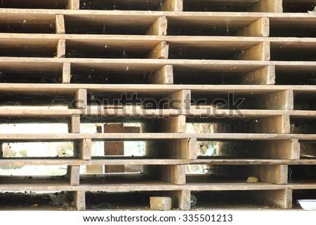 Pallet wood. - stock photo