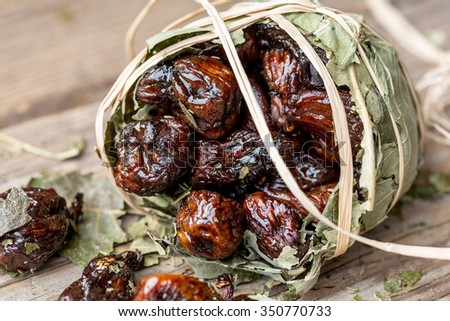 Pallone di fichi (Fig ball) from Cosenza, Calabria, southern Italy - stock photo