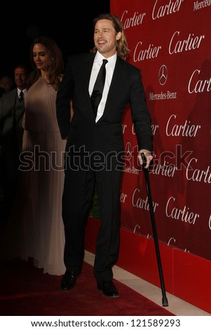 PALM SPRINGS, CA - JAN 7: Brad Pitt at the 23rd Annual Palm Springs International Film Festival Awards Gala at the Palm Springs Convention Center on January 7, 2012 in Palm Springs, California - stock photo