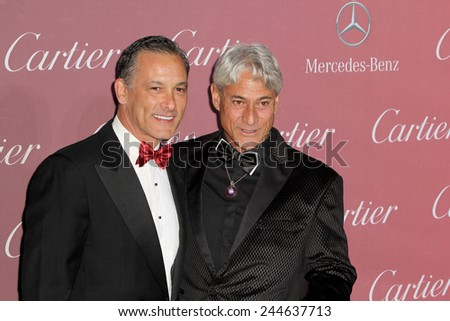 PALM SPRINGS, CA - JAN 3: Johnny Chaillot and Greg Louganis arrive at the 2015 Palm Springs Film Festival Awards Gala at the Palm Springs Convention Center on January 3, 2015 in Palm Springs, CA. - stock photo