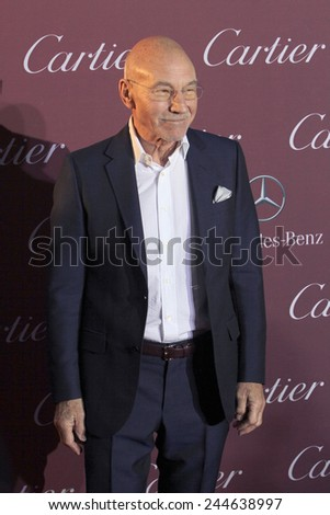 PALM SPRINGS, CA - JAN 3: Patrick Stewart arrives at the 2015 Palm Springs International Film Festival Awards Gala at the Palm Springs Convention Center on January 3, 2015 in Palm Springs, CA. - stock photo