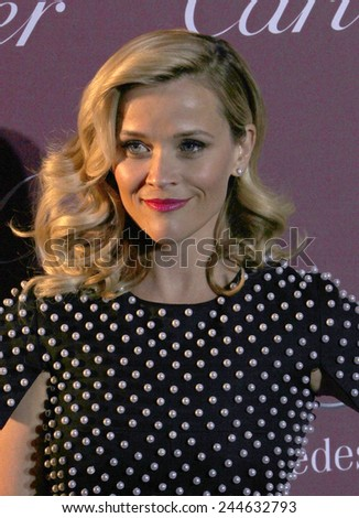PALM SPRINGS, CA - JAN 3:  Reese Witherspoon arrives at the 2015 Palm Springs International Film Festival Awards Gala at the Palm Springs Convention Center on January 3, 2015 in Palm Springs, CA. - stock photo
