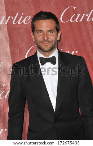 PALM SPRINGS, CA - JANUARY 4, 2014: Bradley Cooper at the 2014 Palm Springs International Film Festival Awards gala at the Palm Springs Convention Centre.  - stock photo