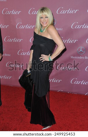 PALM SPRINGS, CA - JANUARY 6, 2015: Suzanne Sommers at the 2015 Palm Springs Film Festival Awards Gala at the Palm Springs Convention Centre.  - stock photo