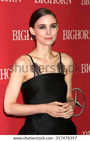 PALM SPRINGS - JAN 2:  Rooney Mara at the 27th Palm Springs International Film Festival Gala at the Convention Center on January 2, 2016 in Palm Springs, CA - stock photo