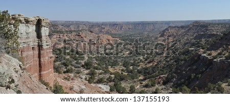 Palo Duro Canyon State Park, Texas - stock photo