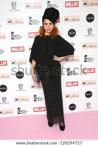 Paloma Faith arriving at the The Amy Winehouse foundation ball held at the Dorchester hotel, London. 20/11/2012 Picture by: Henry Harris - stock photo