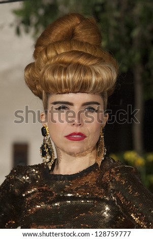 Paloma Faith arriving for the 2013 BAFTA After Party, Grosvenor House Hotel Park Lane, London. 10/02/2013 Picture by: Simon Burchell - stock photo