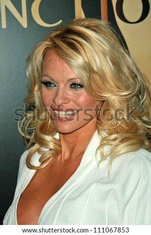 "Pamela Anderson at the World Premiere ""Resident Evil: Extinction"". Planet Hollywood Resort and Casino, Las Vegas, NV. 09-20-07 - stock photo"