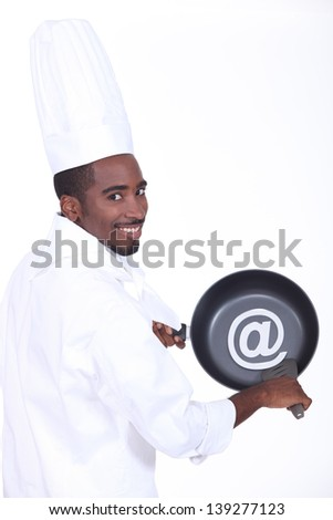 Pan and cook at sign - stock photo