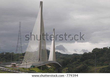 panama centenarian  Centennial bridge  outside Panama City - stock photo
