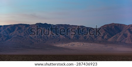 Panamint Sand Dunes in Death Valley, California - stock photo