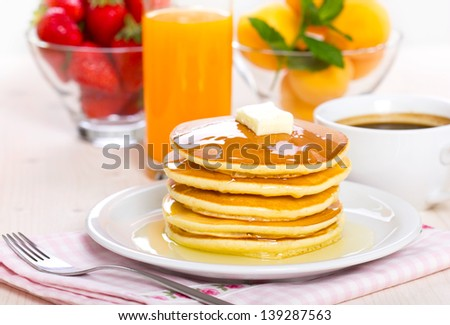 Pancake Breakfast - stock photo