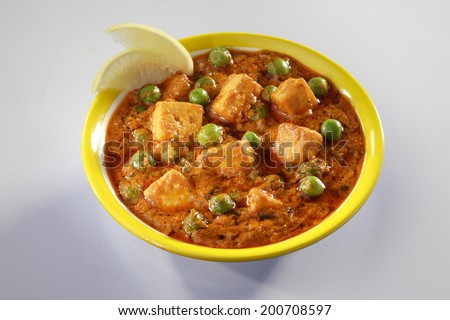 Paneer Mutter gravy, India - stock photo