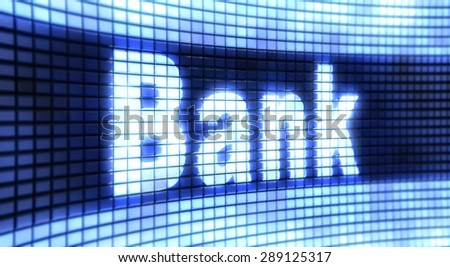 Panel Bank - stock photo