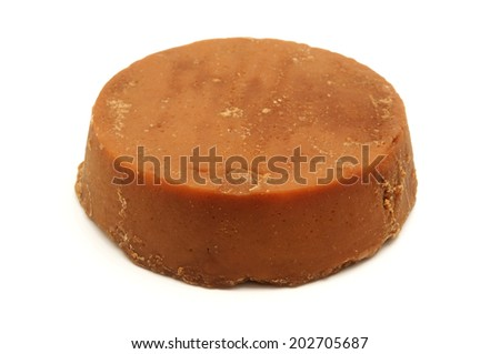 Panela on a white background - stock photo