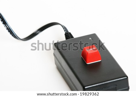 Panic button on a unknown device - stock photo