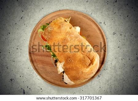 Panini Sandwich. - stock photo