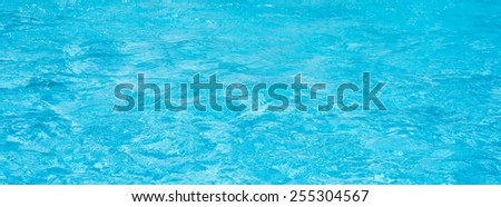 Panorama blue pool water background - stock photo