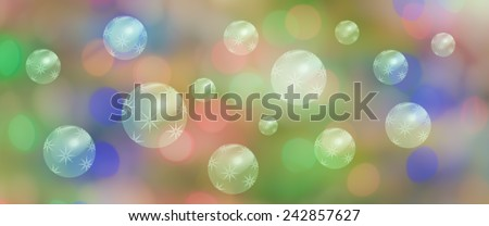 Panorama celebration banner with star bubbles or baubles for christmas birthday new year panoramic background - stock photo