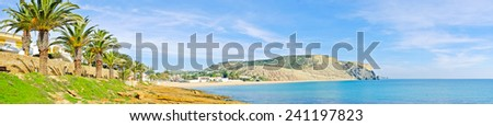 Panorama from the village Luz in Portugal - stock photo