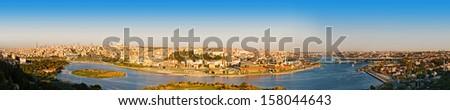 panorama golden horn at Istanbul. Turkey  - stock photo