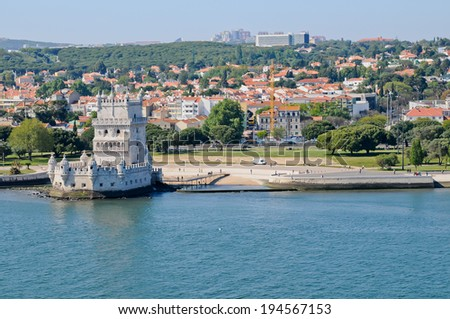 Panorama in Lisbon,Portugal - stock photo