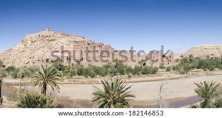 Panorama Kasbah/Ksar � Ait Benhaddou, Morocco - stock photo